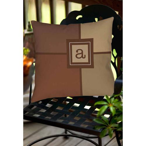 Thumbprintz Grid Monogram Neutral Decorative Pillows
