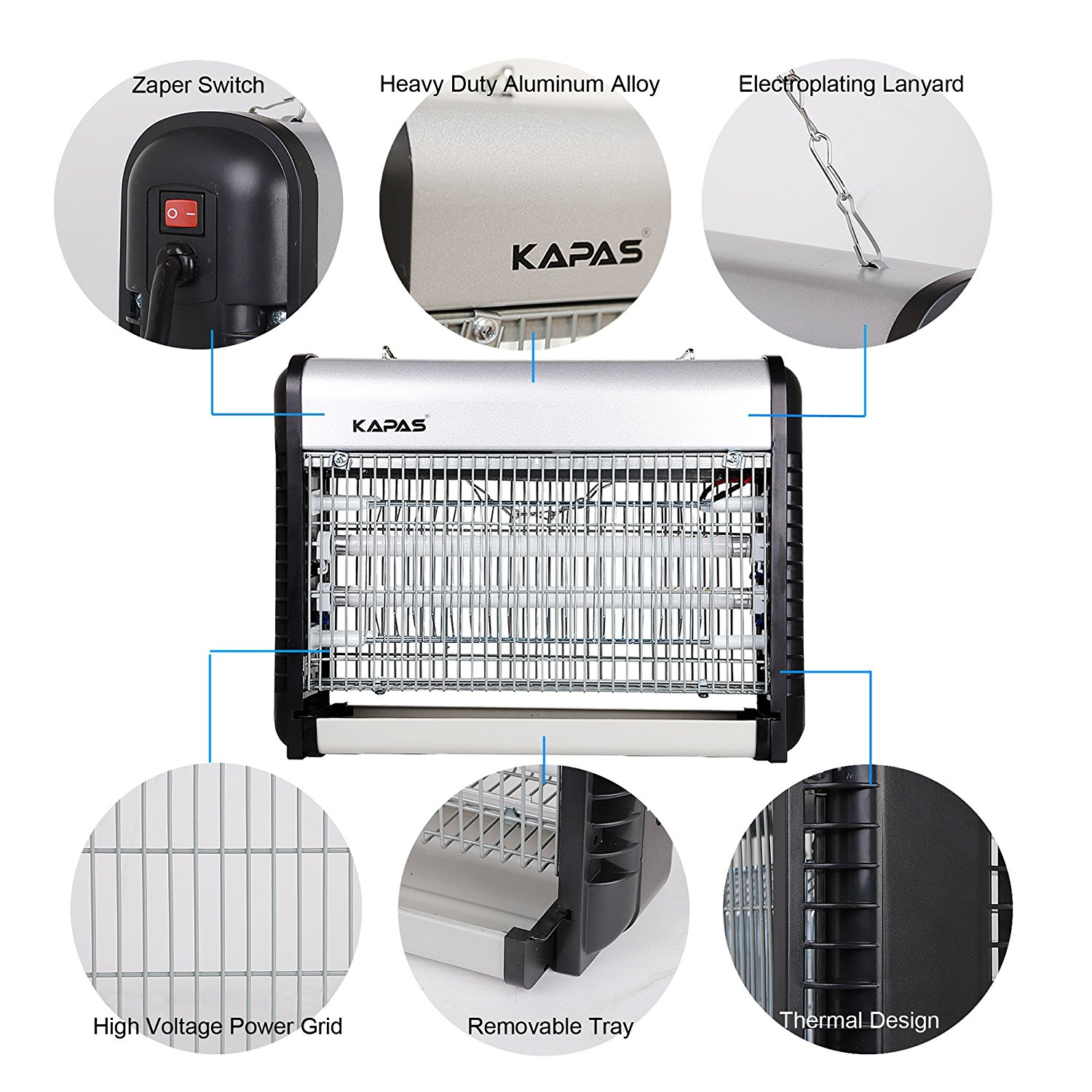 Mosquito Killer Kapas Electric Zapper Indoor Night Lamp Insect Wiring Diagram Further Bug On Control Trap Ideal For Homeamp