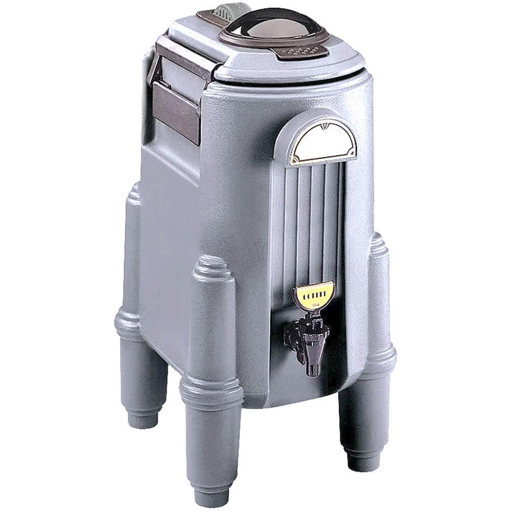 Cambro 5 Gal. Hot Beverage Dispenser, Coffee / Tea, Granite Gray, CSR5-191