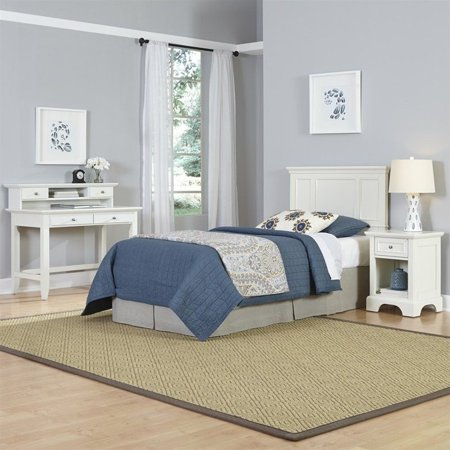 Naples Twin Headboard, Night Stand, and Student Desk with Hutch