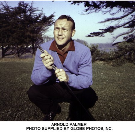 Arnold Palmer on a golf course Photo Print