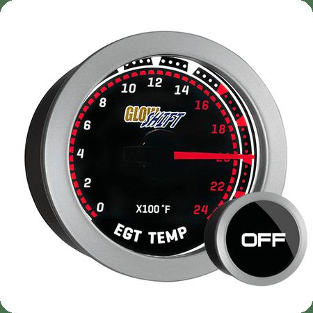 Series Pyrometer Kit - GlowShift Tinted Series 2400 Exhaust Gas Temp EGT Pyrometer Gauge