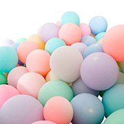 100pcs 10inch Macaron Pastel Colour Latex Balloonsr Candy Color Balloons for Wedding Graduation Party Decoration Baby Birthday Party Valentine's Day Decor Christmas (100pcs Mix Color)