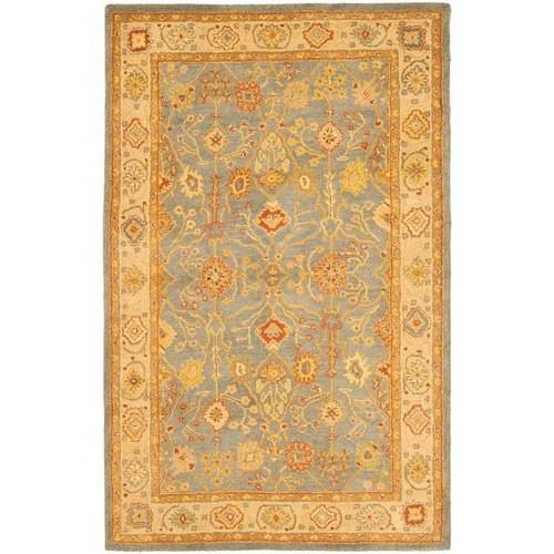 Safavieh Antiquity Chloe Hand-Tufted Wool Area Rug, Blue/Ivory