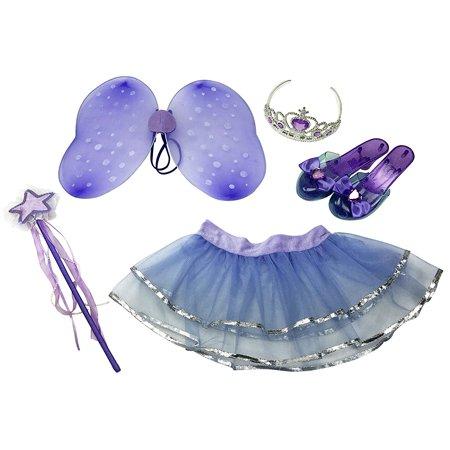 Diy Fairy Dress (Little Fairy Dress-Up Pretend Play Princess Role Play Costume Set for Girls (6)