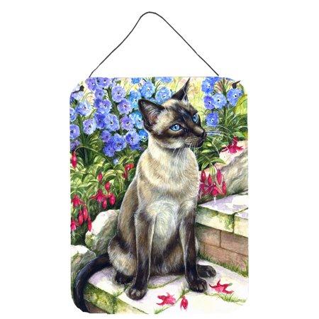 Siamese cat in the Garden Wall or Door Hanging Prints