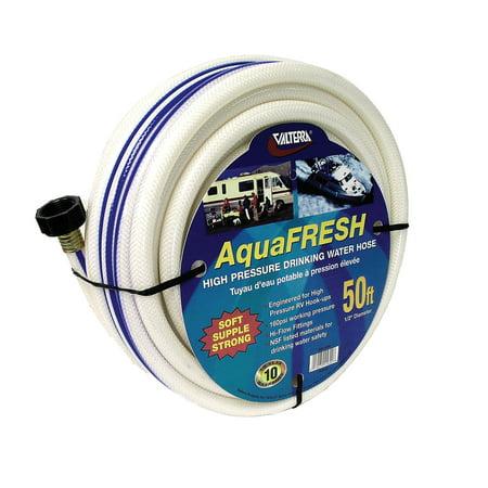 """Valterra W01-5600 AquaFresh High Pressure Drinking Water Hose - 1/2"""" x 50', White"""
