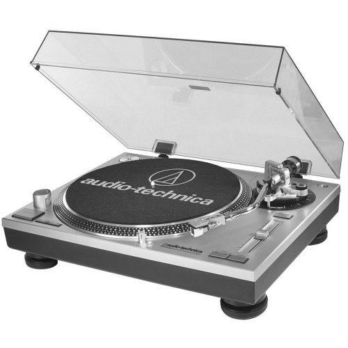 Audio-Technica AT-LP120-USB Direct-Drive Professional Turntable in Silver (atlp120usb) by Audio-Technica