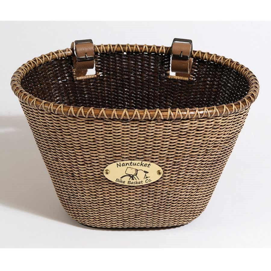 Nantucket Lightship Child Classic Tapered Front Handlebar Bike Basket STAINED