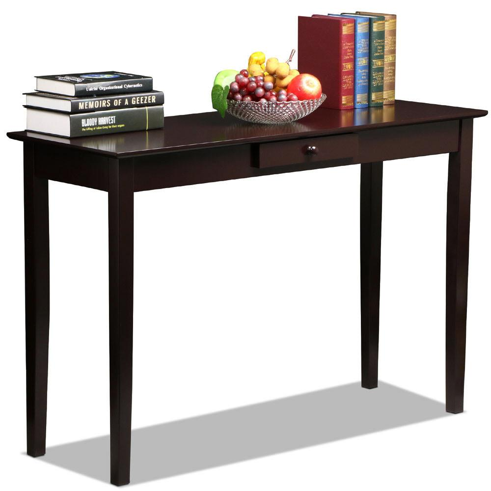 Superieur Yaheetech Wood Console Table Hall Table With One Drawer Espresso