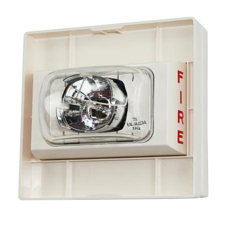Siemens U-S75-W Wall Mount Fire Alarm Strobe, 24-Vdc, White ()