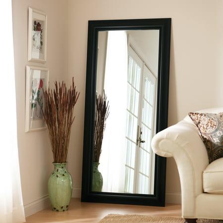 better homes and gardens black leaner full length floor