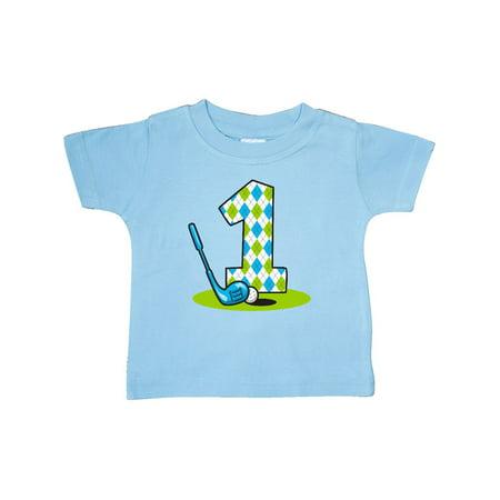 Argyle Golf 1st Birthday Baby T-Shirt (Baby Golf Golf T-shirt)