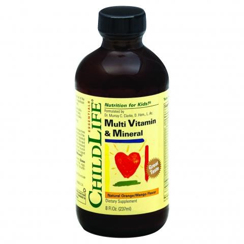 Childlife Multi Vitamin and Mineral Natural Orange Mango 8 fl oz by Child Life