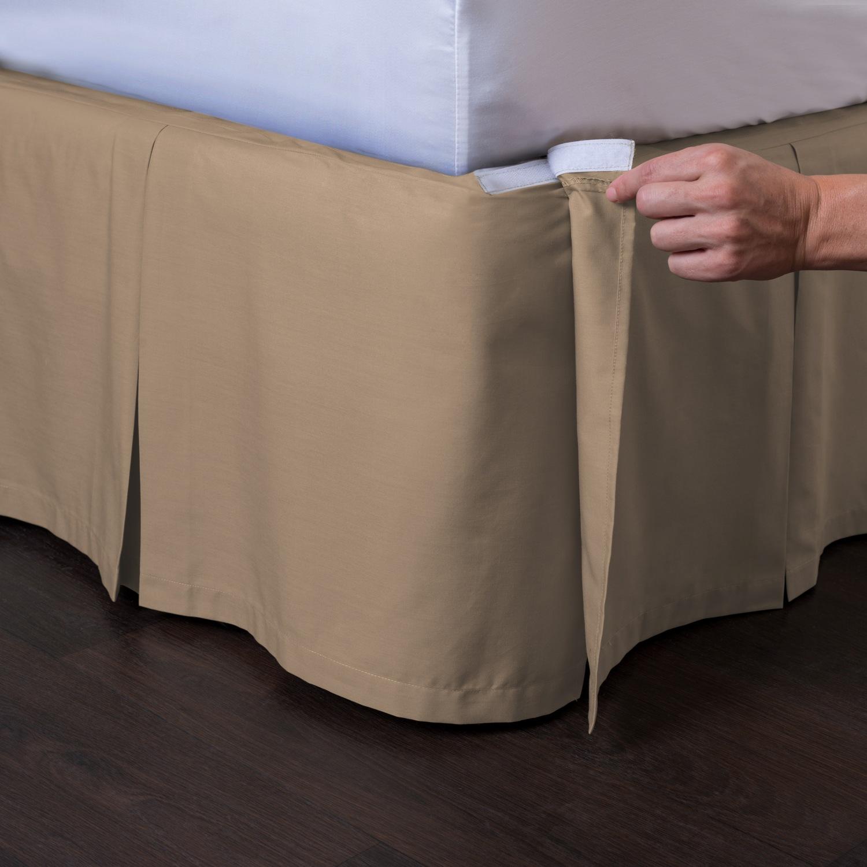 Ashton Detachable Pleated Bed Skirt Walmart Com