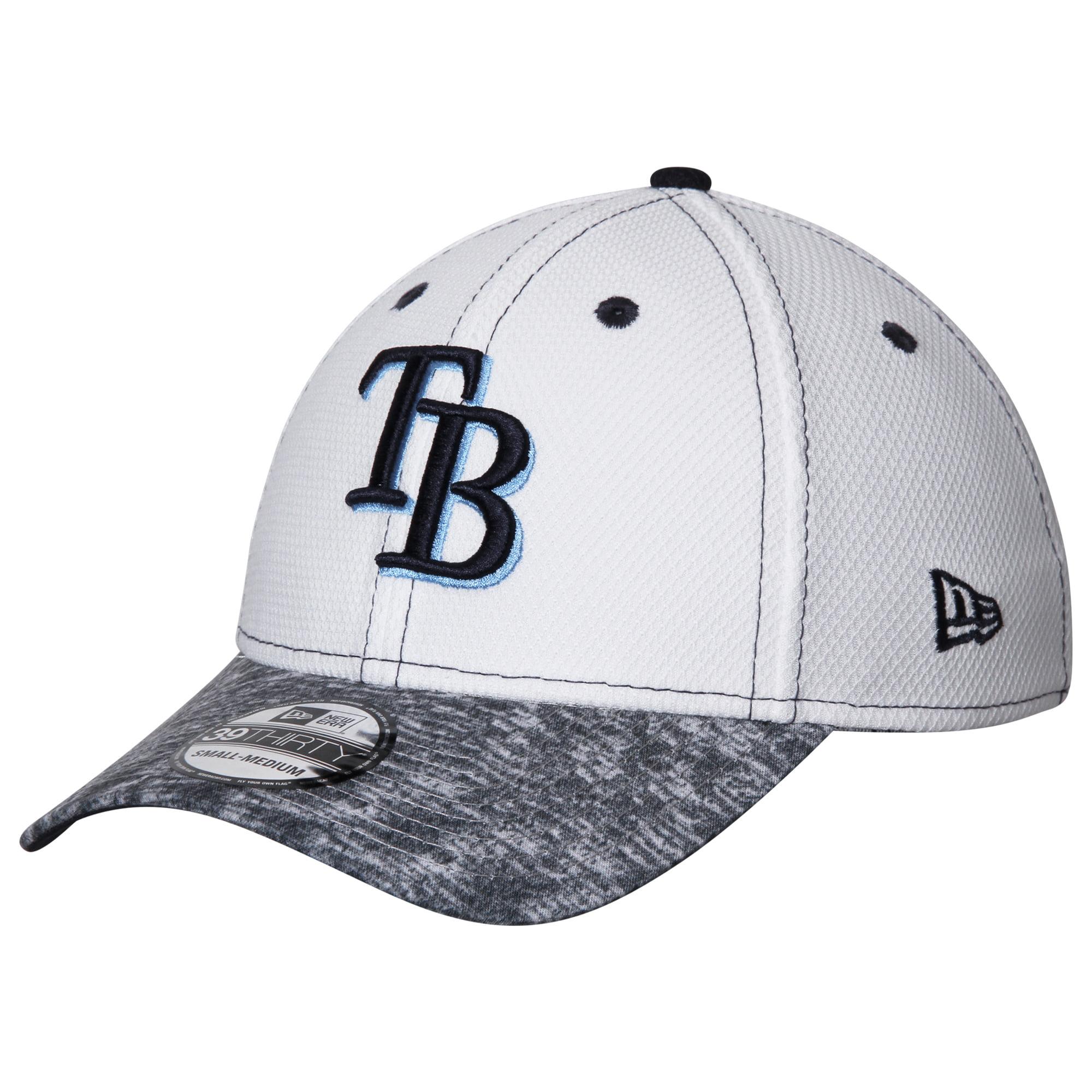 Tampa Bay Rays New Era Tech Stir 39THIRTY Flex Hat - White/Heathered Gray