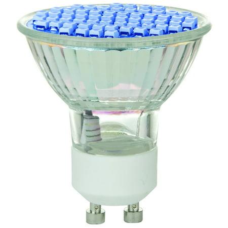 Sunlite 80326-SU MR16/60LED/2.8W/GU10/120V/B LED 120-volt 2.8-watt GU10 Based MR16 Lamp, Blue
