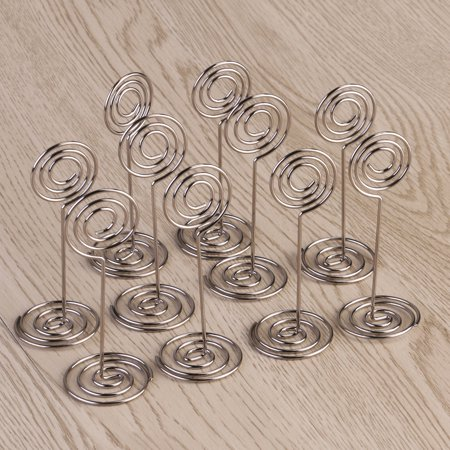 ULTNICE 10pcs Place Card Holder Round Shape Wedding Party Favor Clips - Party Place Card Holders