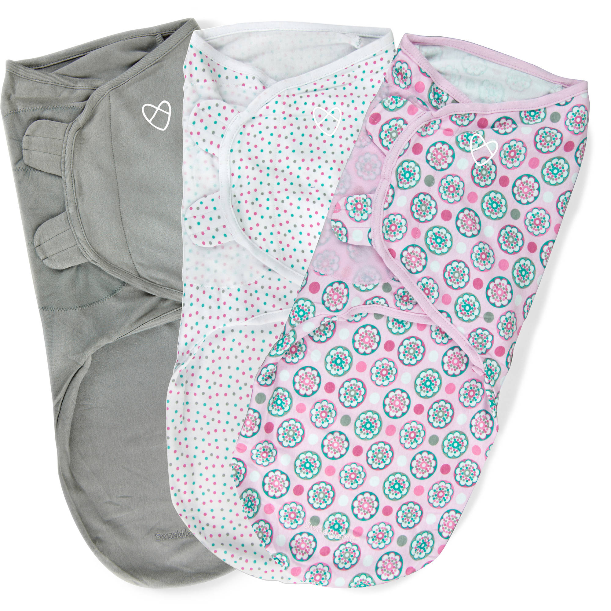 SwaddleMe Original Swaddle, 3-Pack, Floral Geo, Large