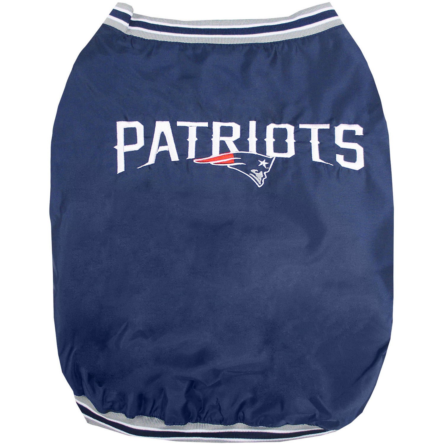 Pets First NFL New England Patriots Dugout Jacket for Dogs/Cats, 3 Sizes Available