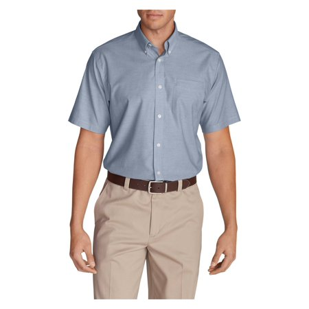 Eddie Bauer Men's Wrinkle-Free Relaxed Fit Short-Sleeve Oxford Cloth Shirt -