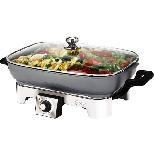 "Oster 16"" x 12"" Removable Pan Electric Skillet, CKSTSKRM16-SK"