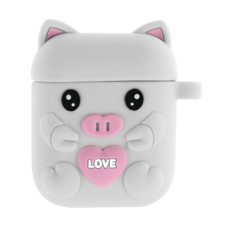 AkoaDa Cute Cartoon Pig Case for Airpods Case 1/2 Airpods Accessories Slicone Girls Kids Protective Cover Case Compatible for Airpods Cute Cartoon Piglet Case for Airpods Case 1/2 Airpods Accessories Slicone Girls Kids Protective Cover Case Compatible for Airpods