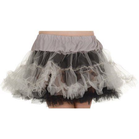 Petticoat Tutu Adult Halloween Accessory](Black Tutus For Adults)