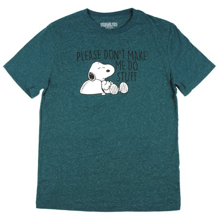 Peanuts Snoopy Please Don't Make Me Do Stuff Graphic