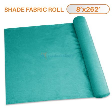 Image of TANG Sunshades Depot 8'x262' Shade Cloth 180 GSM HDPE Turquoise Green Fabric Roll Up to 95% Blockage UV Resistant Mesh Net For Outdoor Backyard Garden Plant Barn Greenhouse
