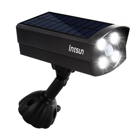 Intsun ultra bright usb solar powered 4 led motion sensor lights intsun ultra bright usb solar powered 4 led motion sensor lights dummy camera outdoor spotligh aloadofball Image collections