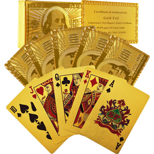 Trademark Poker 24kt Gold Foil Playing Cards