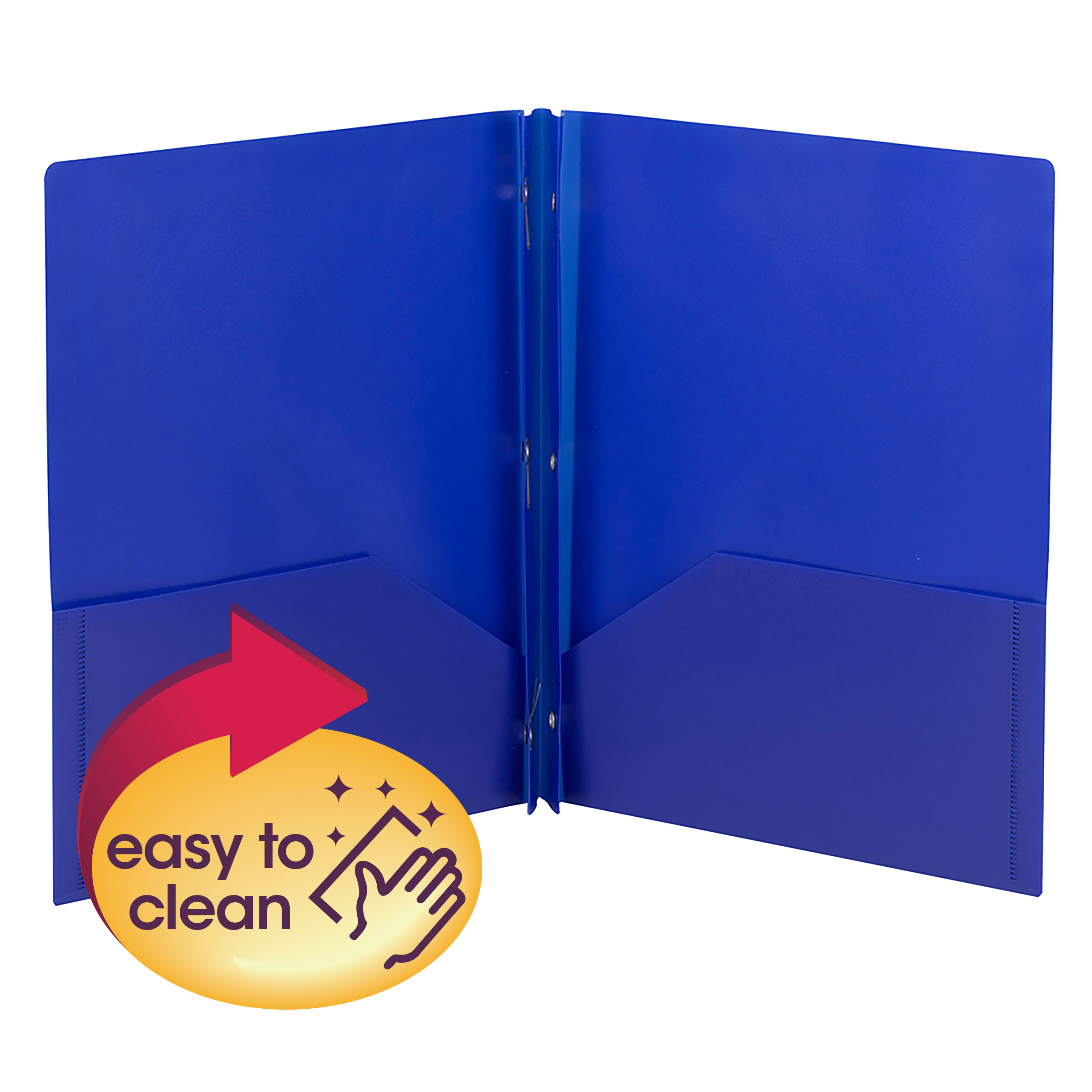 Colored Poly Out Guides with Pockets Poly 25//Box Blue Letter