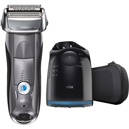 Braun Series 7 790cc ($25 Rebate Available) Men's Electric Foil Shaver, Rechargeable and Cordless Razor with Clean & Charge Station