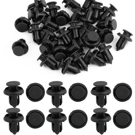 Uxcell 10mm Truck Car Door Fender  Hole Push in Nylon Rivets Fastener Black (Nylon Rivets)