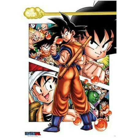 Dragonball - Manga / Anime TV Show Poster / Print (Son-Goku Story) (Son Goku & Friends) (Size: 27