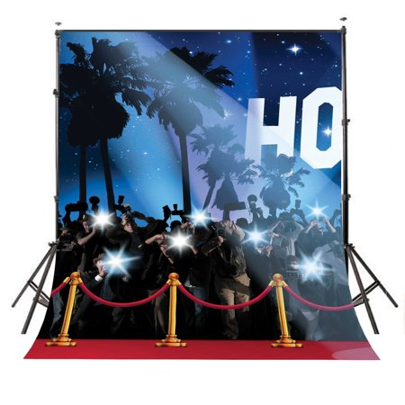 GreenDecor Polyster 5x7ft Photography Backdrop Hollywood Red Carpet Background Studio Props Backdrop Wall