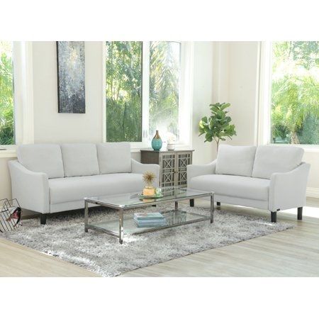 Devon & Claire Elise Fabric Sofa and Loveseat, Multiple Colors