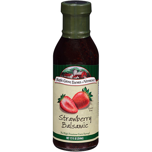 Maple Grove Farms Of Vermont Strawberry Balsamic Dressing, 12 oz (Pack of 6)
