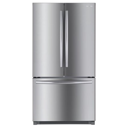 Daewoo RFS-26ABT French Door Bottom Mount Refrigerator 26 Cu. Ft. | Stainless (Best French Door Refrigerator With Water Dispenser)