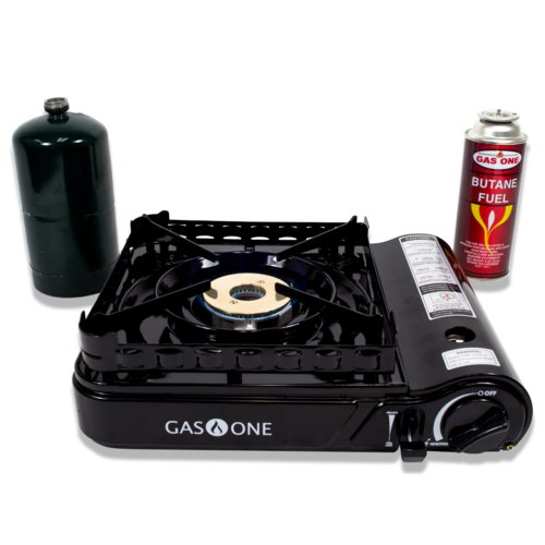 Gas One Propane or Butane Portable Dual Fuel Gas Stove Range Cook Top Camping 15,000 BTU