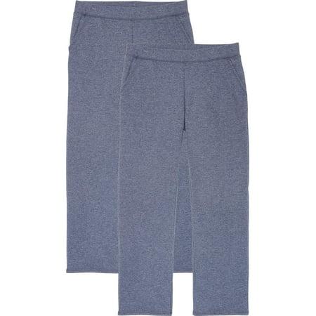 Open Bottom Body (Time and Tru Women's Essential Fleece Open Bottom Fleece Sweatpant (2-pack))
