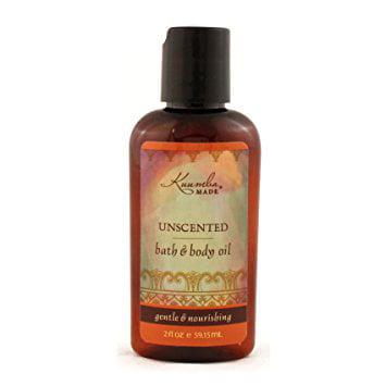 Small 2 Ounce Bottle (Kuumba Made Unscented Bath & Body Oil, 2 Ounce Bottle )