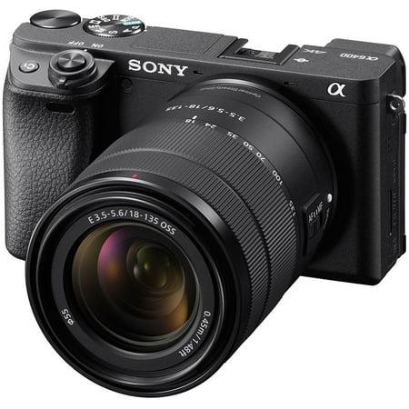 Sony Alpha A6400 4K Wi-Fi Digital Camera + 18-135mm Lens (Sony Alpha A5100 Wi Fi Digital Camera)