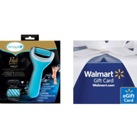 Free $10 eGift Card + Amope Pedi Perfect Rechargeable Foot File + Two Roller Head Refills