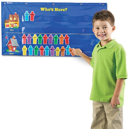 Attendance Pocket Chart, Blue by Online Discounts Gifts