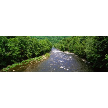 River passing through a forest Pigeon River Cherokee National Forest Tennessee USA Poster Print