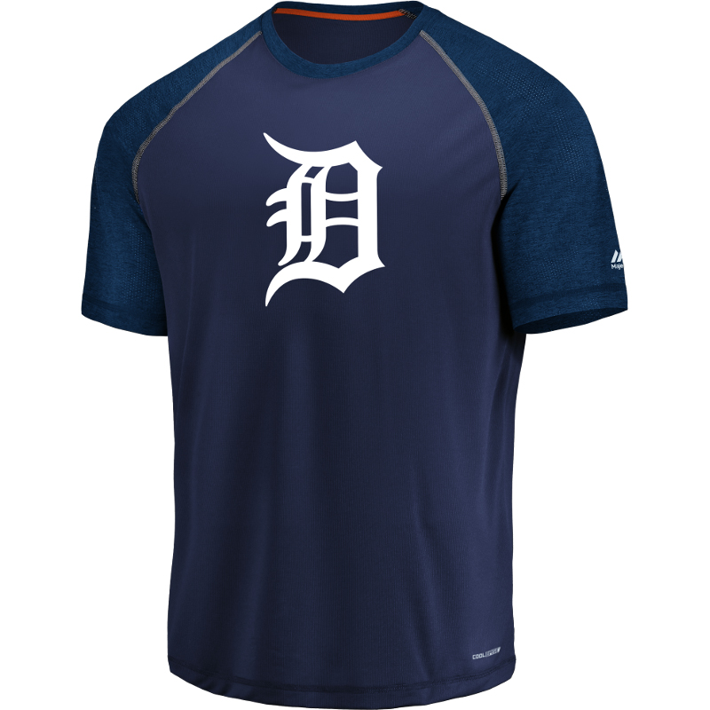 Detroit Tigers Majestic Got the Word Cool Base T-Shirt Navy by MAJESTIC LSG