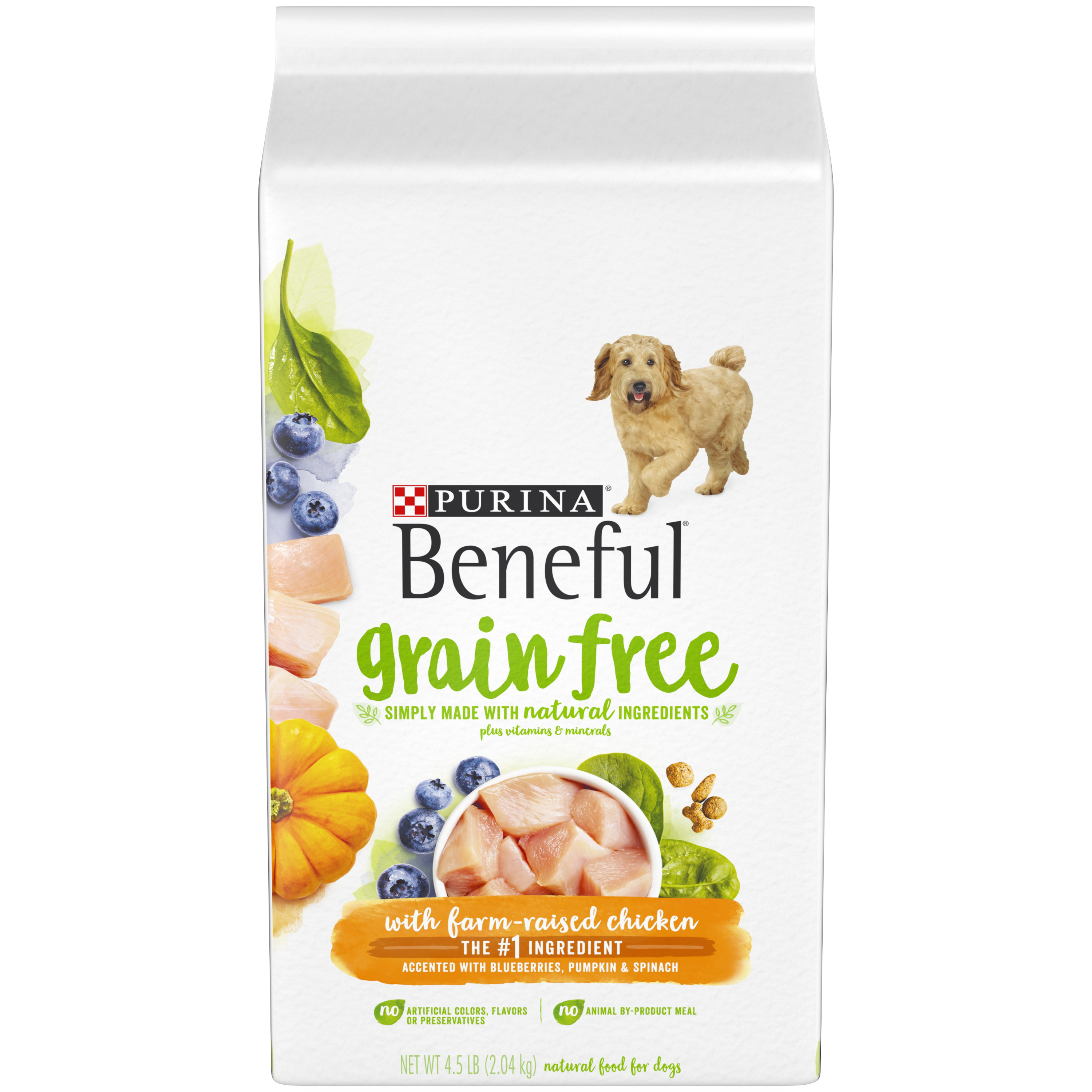 Purina Beneful Grain-Free With Real Farm-Raised Chicken Adult Dry Dog Food - 4.5 lb. Bag
