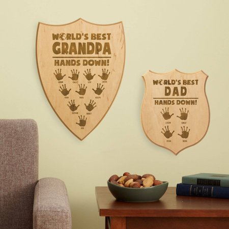 Personalized Hands Down Best Shield Sign  Available In Large Or Small